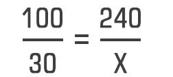 Porcentagem com regra de três 02
